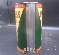 RARE 1930's VINTAGE B/A PEERLESS MOTOR OIL IMPERIAL QUART CAN
