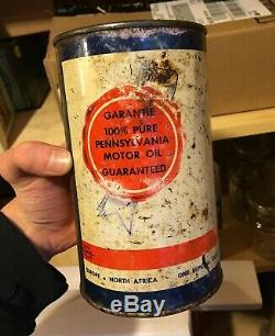 RARE 1940's VINTAGE AMERICOIL MOTOR OIL IMPERIAL QUART CAN MONTREAL, QUE
