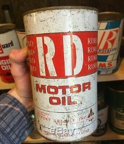 RARE 1960's VINTAGE RD MOTOR OIL IMPERIAL QUART CAN (ROBERT DELISLE QUEBEC)