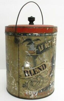 RARE Antique UNIVERSAL COFFEE Tin, Litho Can, Advertising, UNCLE SAM, AMERICA