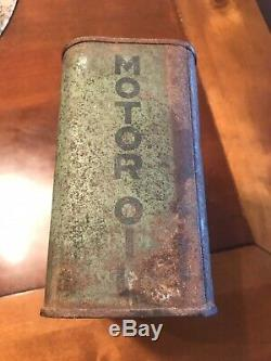 RARE Dixoline Motor Oil Can Lytton Oil Co. Lytton Iowa Advertising Oil Gas Lube