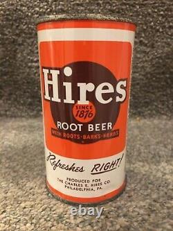 RARE HIRES ROOT BEER, 12oz FLAT TOP SODA CAN PHILADELPHIA PA, STUNNING