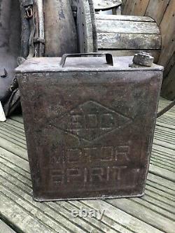 RARE Old Original BOC Motor Spirit can Burmah Oil Company -no oil enamel sign