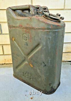 RARE VINTAGE 1945 WWII Jerry Can USA Antique WW2 World War 2 Wheeling Gas Willys
