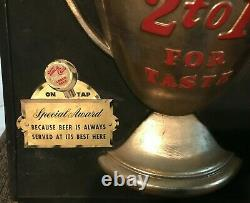 RARE VINTAGE UTICA CLUB BEER SIGN With CAN BOTTLE & TAP WEST END BREWING UTICA NY
