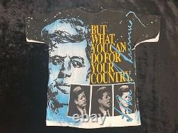 RARE VTG 90s JFK Ask Not What Your Country Can Do For You ALL OVER PRINT Shirt