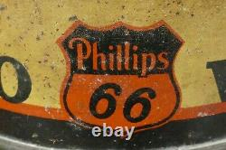 RARE Vintage 1930s PHILLIPS 66 Auto Cleaner Polish Wax Tin Can Gas Oil Can