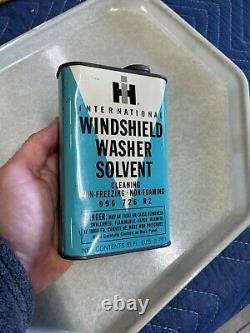 RARE Vintage 1960s International Harvester Windshield washer solvent can METAL