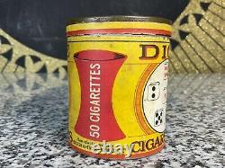 RARE Vintage Antique DICE Cigarettes Paper Label Tin Tobacco Advertising Can