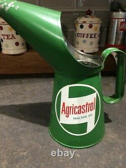 RARE Vintage Castrol Agricastrol Oil Can Jug Pourer Esso BP Shell Oil RARE