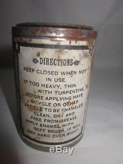 RARE vintage 1900's Mead Cycle Company Chicago, IL Bicycle Enamel paint tin can