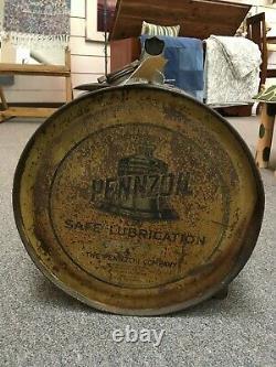 Rare 1920s Pennzoil 5 Gal Rocker Motor Oil Can