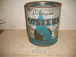 Rare 1 Gallon Oyster Tin Can Maryland Clam Co Easton Md 116