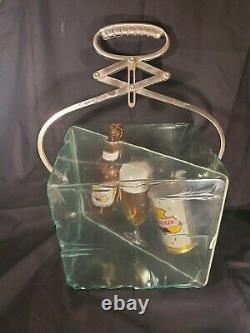 Rare 50/60's Falstaff Beer Ice Block Cube Bar Shelf Advertising Sign Flatop Can