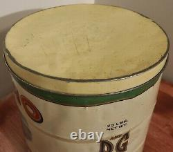 Rare Antique KAMO 25 lb Peanut Butter Lidded Tin Can