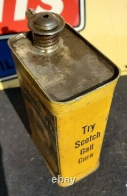 Rare Antique Rega Coach Buggy Sulky Hearse Wagon Oil Tin Can Not Porcelain Sign