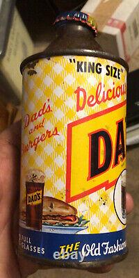 Rare Cone Top Dads Root Beer Soda Can Chicago Indoor Can Illinois King Size