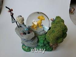 Rare Disney LION KING'I Cant Wait To Be King' Musical Snow Globe, 7 Tall