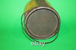 Rare Earliest Vintage Antique Ojibwa Bright Fine Cut Chewing Tobacco Tin Can