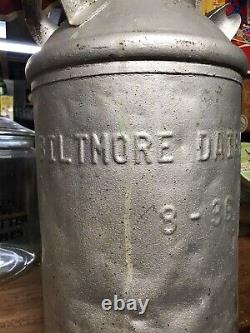 Rare Early Vintage Biltmore Dairy Farms Milk Can Bottle Sign Carton Coble Pet