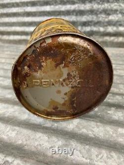 Rare FULL 1940s PENNZOIL United Airlines Motor Oil Can 1 qt. Gas & Oil