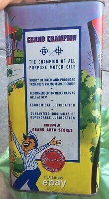 Rare Grand Champion Rat Rod Hot 2 Gallon Oil Can SAE 30