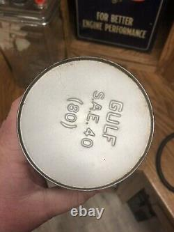 Rare Gulf Aircraft Aviation Engine Oil Can, Full, Nice Example Of A Rare Can