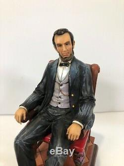 Rare Jim Shore President Abraham Lincoln house divided can't stand Honest Abe