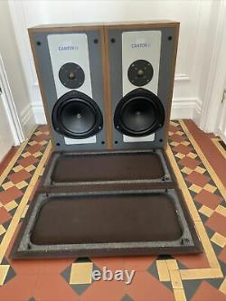 Rare KEF Cantor II 2 way speakers Vintage Hifi Can Post Very Good Condition