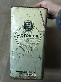 Rare Monark Motor Oil Can 2 Gallon Can New York City
