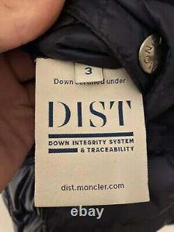 Rare Moncler Oise Reversible Jacket Navy Blue Size 3 Can Fit Small/Medium/Large