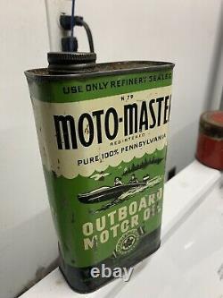 Rare Motomaster Outboard Oil Can
