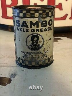 Rare Nourse Oil Company Sambo 1 Pound Grease Can
