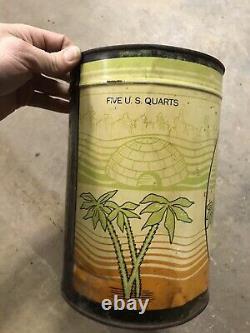 Rare Phillips 66 5 Quart Oil Can Trop Artic