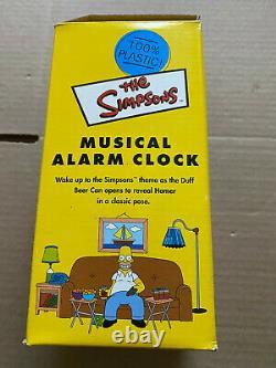 Rare SIMPSONS DUFF BEER CAN musical alarm clock wesco D