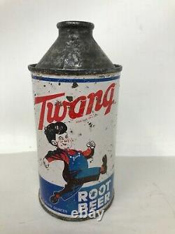 Rare Twang Root Beer Cone Top Can 12 Fluid Ounces