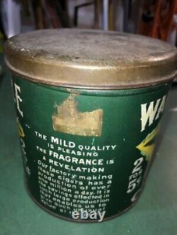 Rare VINTAGE ADVERTISING GREEN WAR EAGLE Cigar CANISTER TIN Can 2 For 5 cents