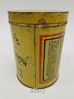 Rare VTG Old Seneca Stogies Cigar Tobacco Tin Can Kildow Tiffin, OH Indian Chief