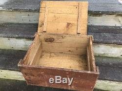 Rare Vintage Antique OILZUM Oil Can Shipping Box Authentic and Complete Wood Box