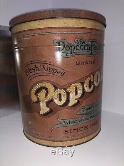 Rare Vintage Ballonoff Popcorn Factory Tin Can 14'' Tall
