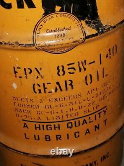 Rare Vintage Black Bear Gear Oil Can Barrel Drum 15 Gallon Long Island City NYC