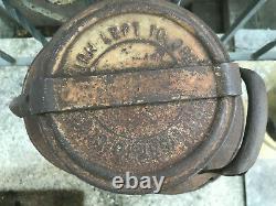 Rare Vintage Ellisco SUNOCO Embossed 5 Gallon Oil Gas Can Container Pat Pend
