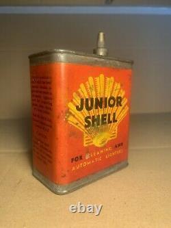 Rare Vintage Junior Shell Spirit Can Tin Petrol Oil Automobilia Jug