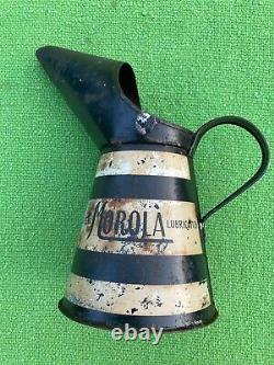 Rare Vintage Morola Quarter Oil Jug Pourer Can Manchester Oil Refinery