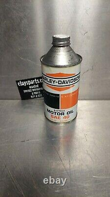 Rare Vintage Oil Can Original Harley Davidson Two 2 Cycle Motor Hummer Topper