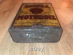 Rare Vintage Old Shell Motor Oil Can 5L