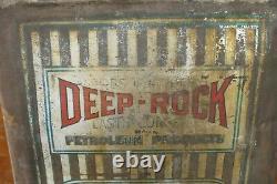 Rare Vintage Original DEEP ROCK Motor Oil 5 Gallon Square Can Shaffer Oil Co