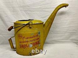 Rare Vintage Original SHELL Shellzone Coolant Anti Freeze Tin Can Motor Oil Gas