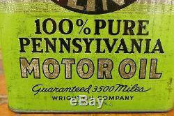 Rare Vintage Penn Airliner 2 Gallon Motor Oil Can Plane Graphics Jersey City, NJ