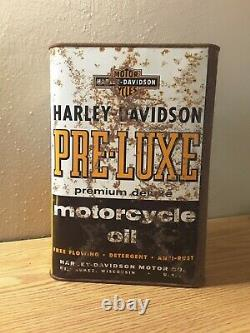Rare Vintage''harley Davidson'' Pre-luxe Motorcycle Oil Gallon Can